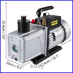 12 Cfm Vacuum Pump Single Stage 110V Inlet 1/4 And 3/8 Sae 1 Hp