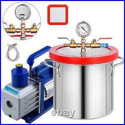 2 Gallon Vacuum Chamber + 5 CFM Single Stage Pump to Degassing Silicone Kit