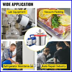 2 Gallon Vacuum Chamber Degassing Silicone Kit and 3 CFM Vacuum Pump 1 Stage