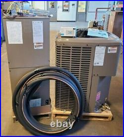 York 14.5 Seer 2 Ton Heat Pump Split System with10kw Heat Strips, Stat and Lineset